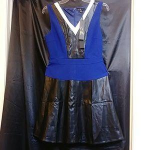 C.LUCE FAUX leather color black dress size M